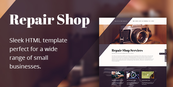 Repair Shop - HTML Repair Shop Template - Retail Site Templates