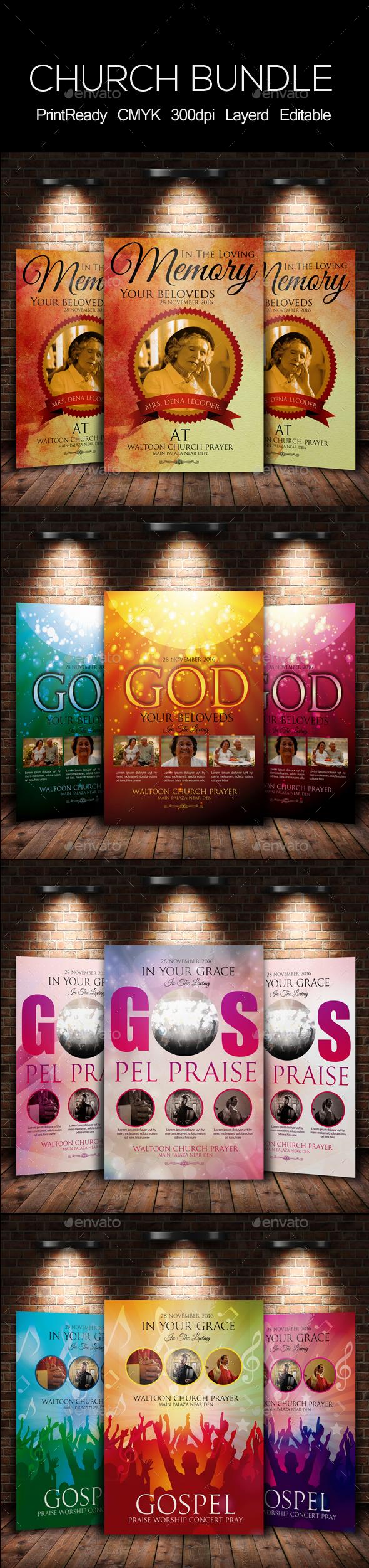 Everlasting God Church Flyer Bundle - Church Flyers