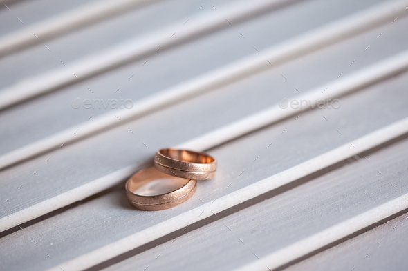 The wedding rings close up - Stock Photo - Images
