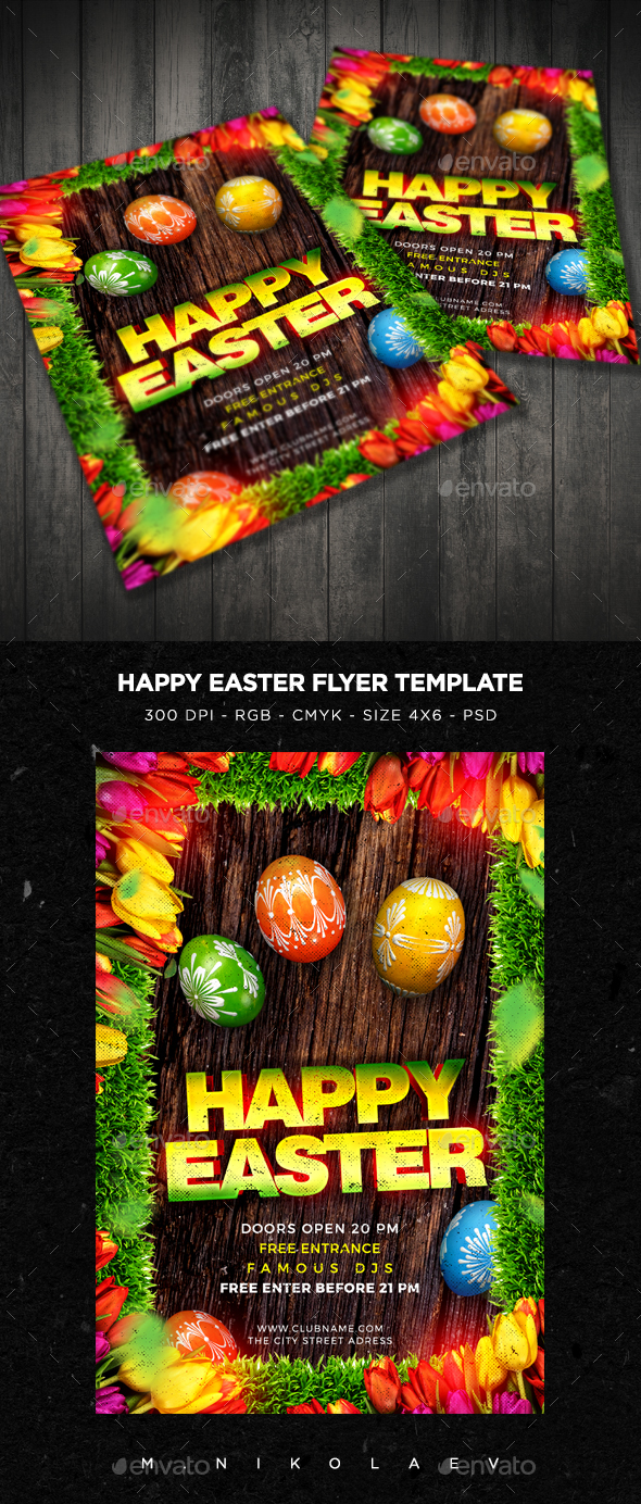 Happy Easter Flyer - Clubs & Parties Events