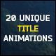 20 Unique Title Animations - VideoHive Item for Sale