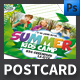 Summer Camp Postcard Template - GraphicRiver Item for Sale