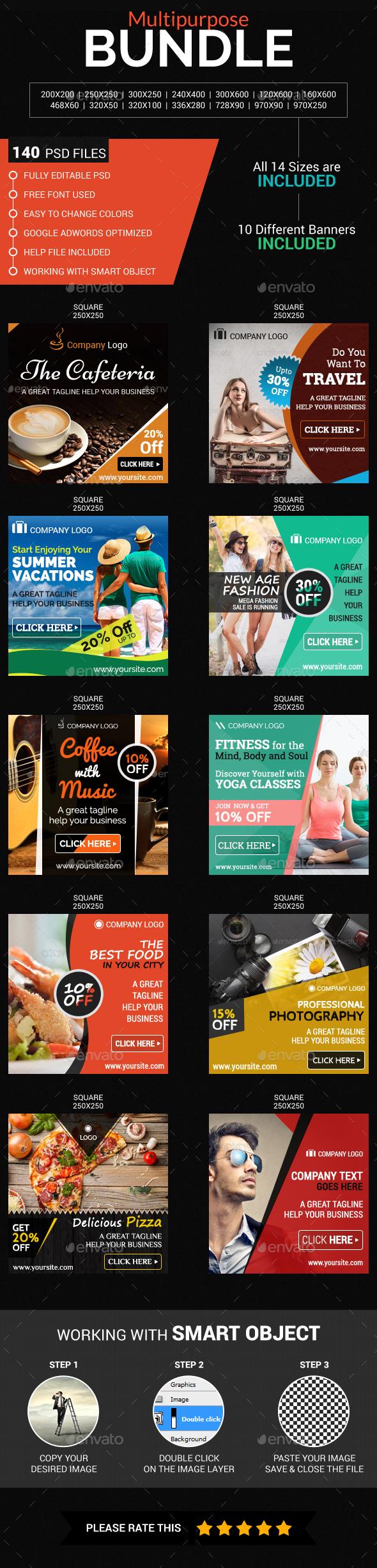Multi purpose Bundle - Banners & Ads Web Elements