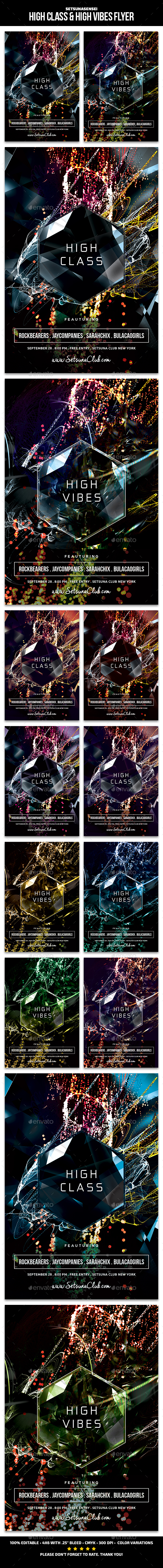 High Class & High Vibes Flyer - Clubs & Parties Events