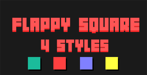 Flappy Square - Html5 Mobile Game - android & ios HD - CodeCanyon Item for Sale