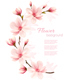 Frame Made Out Of Magnolia Flowers Vector - GraphicRiver Item for Sale