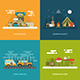 Summer Activity Concept Backgrounds - GraphicRiver Item for Sale