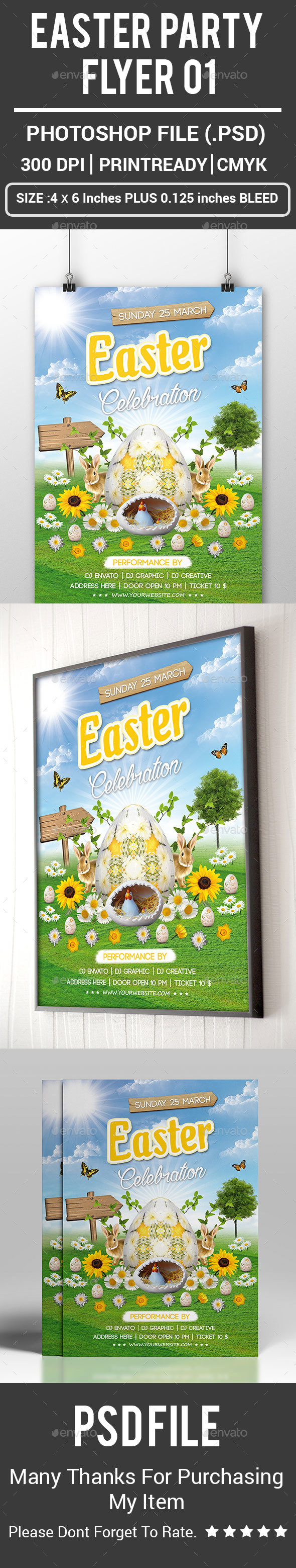 Easter Party Flyer 01 - Clubs & Parties Events