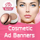 Cosmetic Product  Ad Banners - GraphicRiver Item for Sale