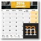 2016+2017 Wall Calendar - GraphicRiver Item for Sale
