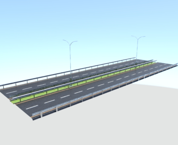 Low Poly Asphalt Road - 3DOcean Item for Sale
