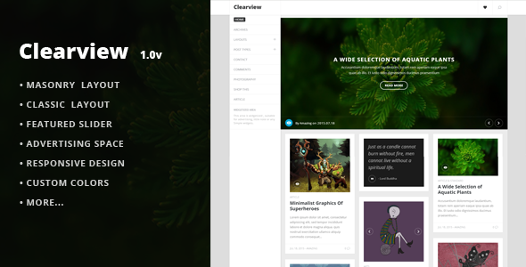Clearview –  A Clean & Responsive Blog Theme