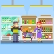Young Parents With Baby Toddler In Supermarket - GraphicRiver Item for Sale