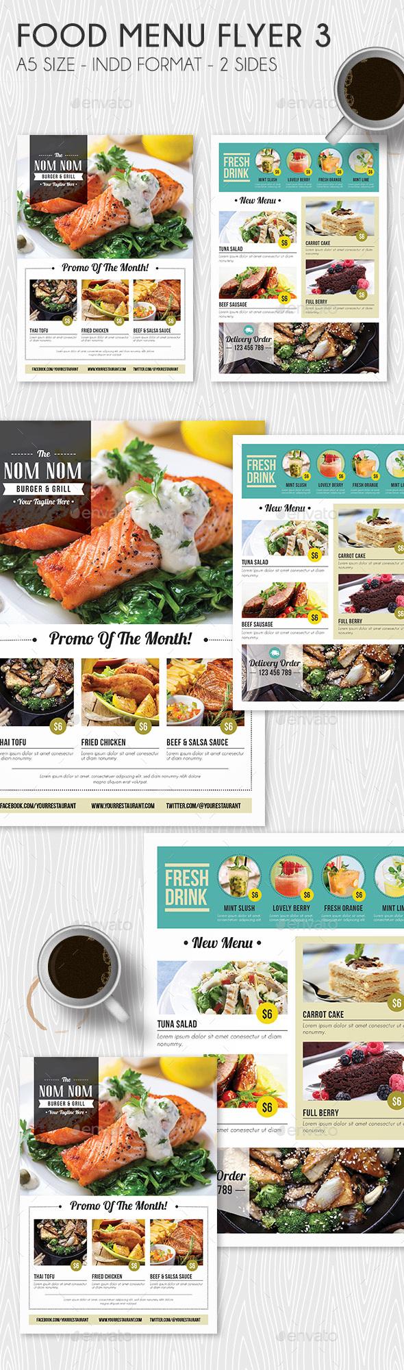 Food Menu Flyer 3 - Restaurant Flyers