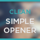Clean Simple Opener - VideoHive Item for Sale