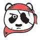 Pirate Panda Logo Template - GraphicRiver Item for Sale