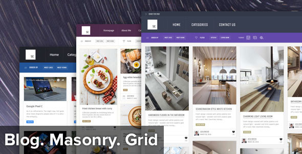 Sun – Masonry Grid Personal Blog and News Magazine theme for WordPress