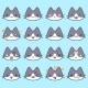 Set Of Simple Cute Cat Emoticons - GraphicRiver Item for Sale