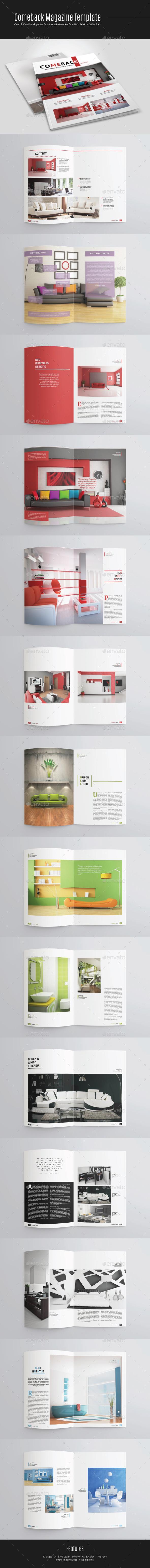 Comeback Magazine Template - Magazines Print Templates