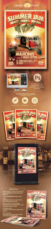 Summer Jam Vol. 1 Flyer Template - Concerts Events
