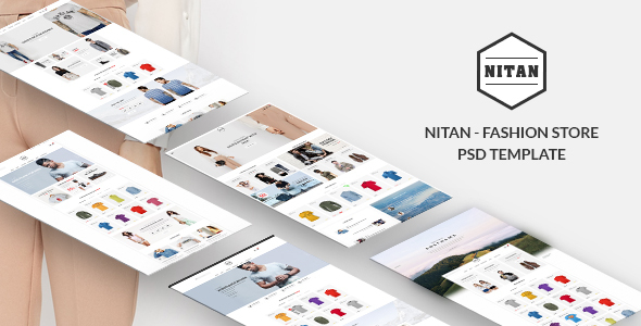 Nitan – Ecommerce PSD Template