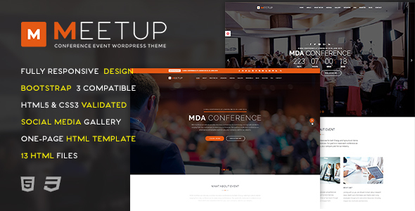 Meetup – Conference Event HTML Template