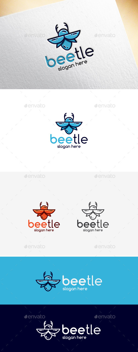 Beetle Logo Template - Animals Logo Templates