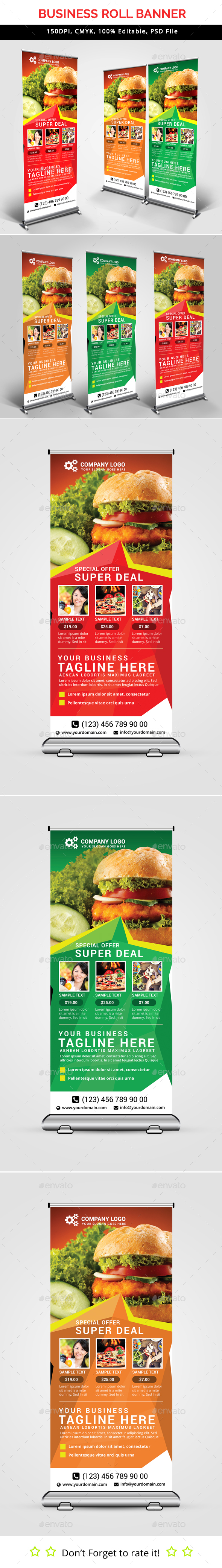 Fast Food Roll Up Banner V35 - Signage Print Templates