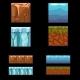 Seamless Landscape Square Elements Set - GraphicRiver Item for Sale