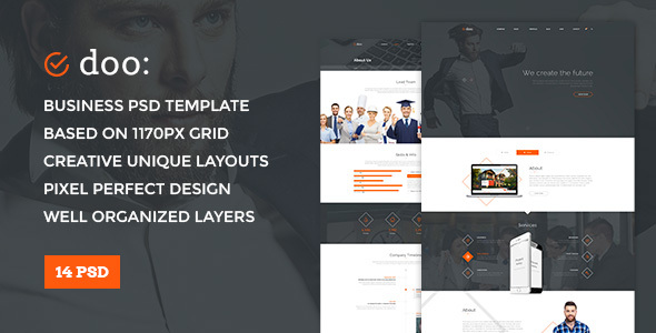 Doo — Clean and Simple Multipurpose PSD Template - Business Corporate