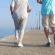 Senior Couple Jogging On The Pier - VideoHive Item for Sale