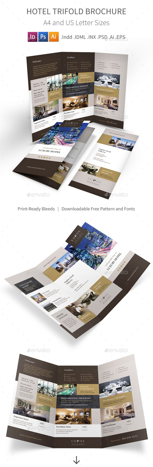 Luxury Hotel Brochure Graphics Designs Templates Page 2