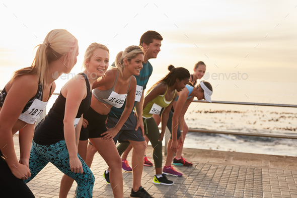 Racers at the starting line - Stock Photo - Images