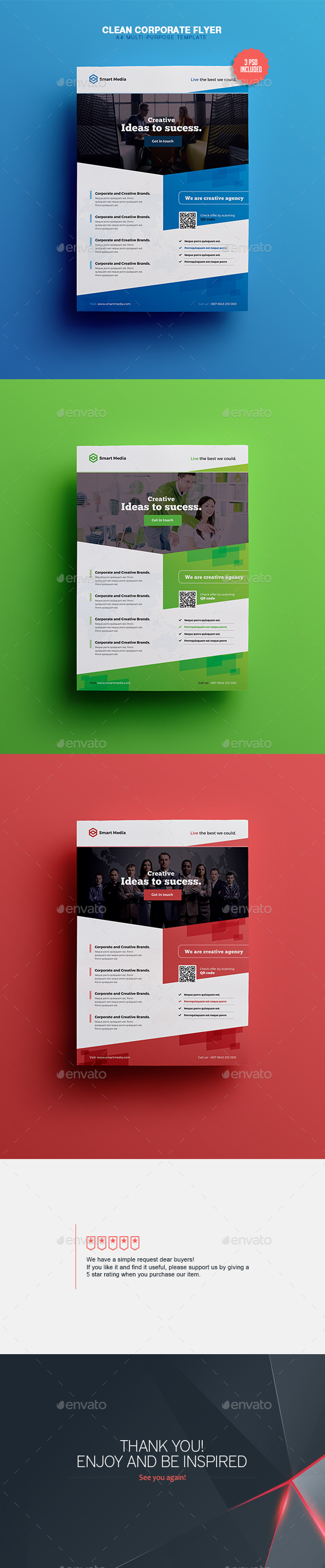 Clean & Corporate - A4 Flyer Template - Corporate Flyers