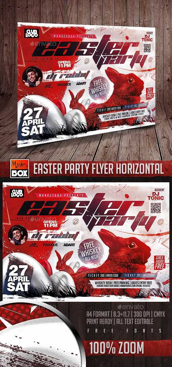 Easter Party Flyer Horizontal - Events Flyers