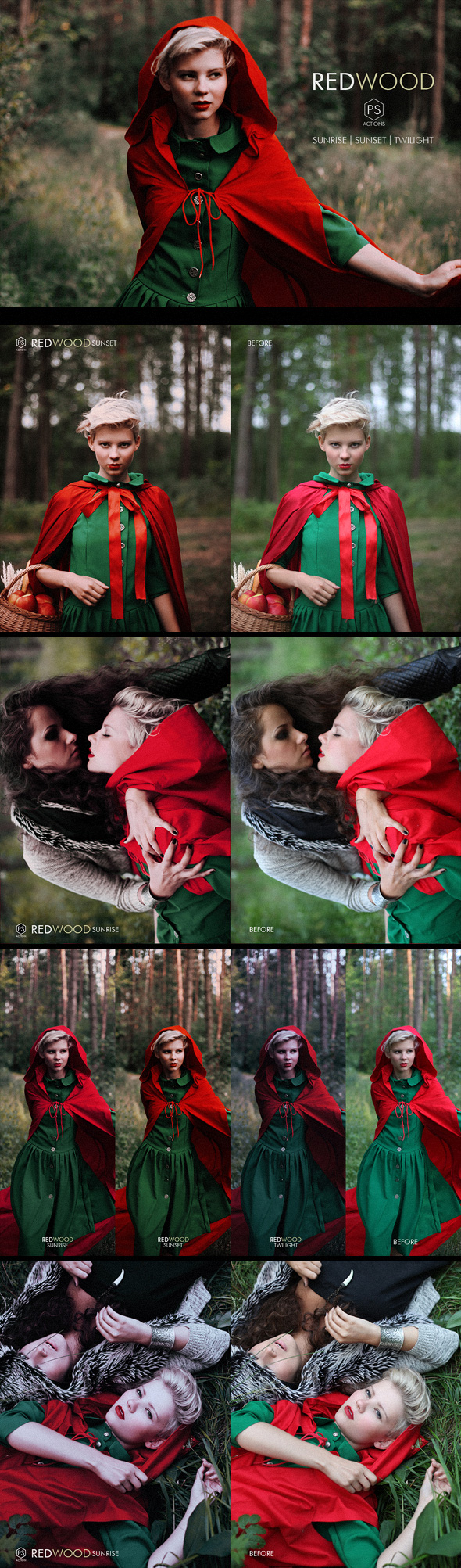 Redwood Fantasy Photoshop Actions - Photo Effects Actions