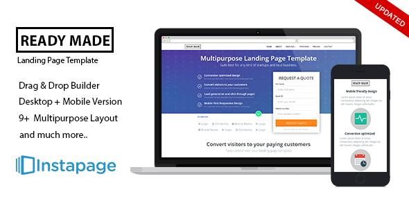 Instapage Multipurpose Landing Page - ReadyMade - Instapage Marketing