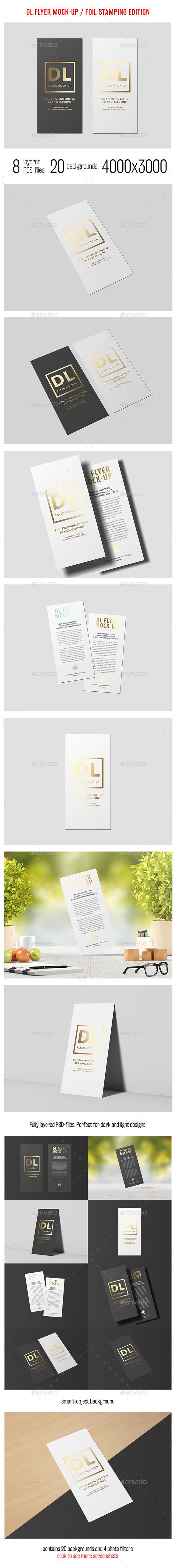 DL Flyer Mock-Up / Foil Stamping Edition - Flyers Print
