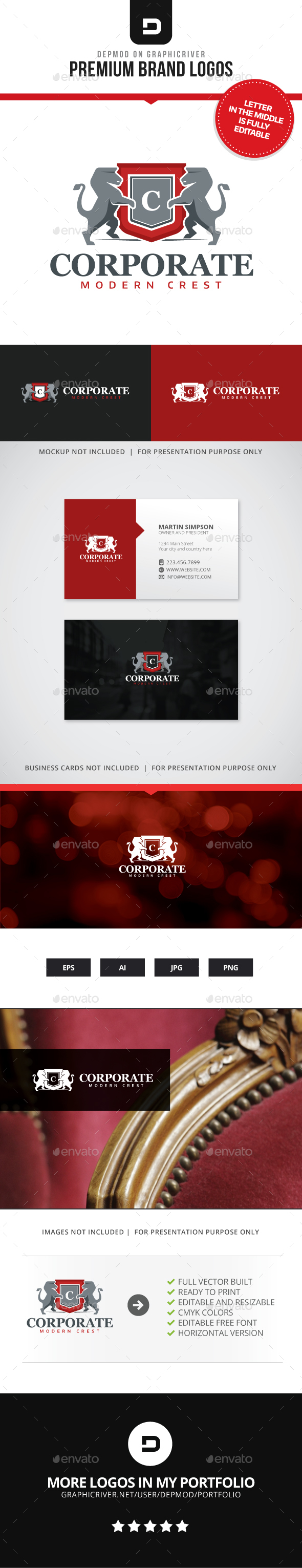 Corporate Crest Logo - Crests Logo Templates
