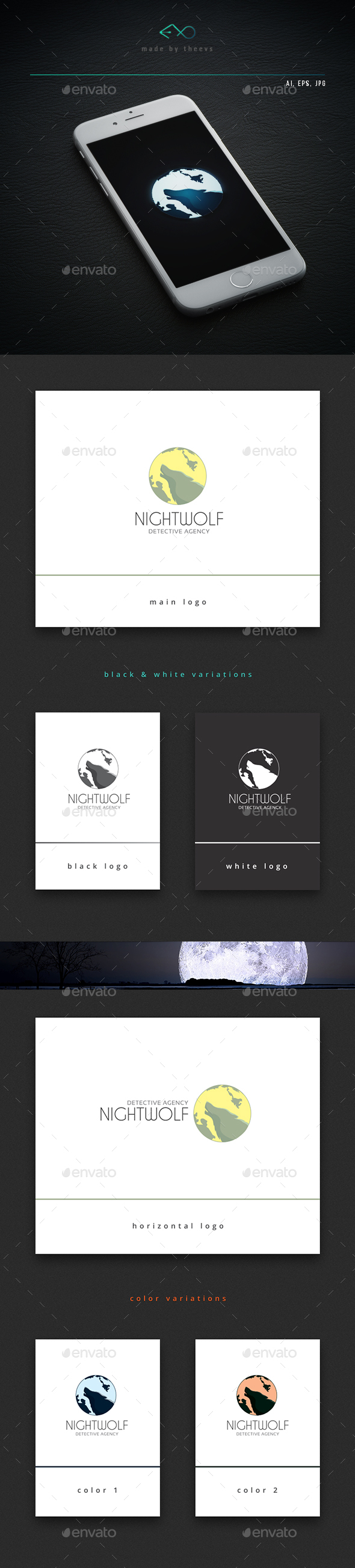 Nightwolf - Animals Logo Templates