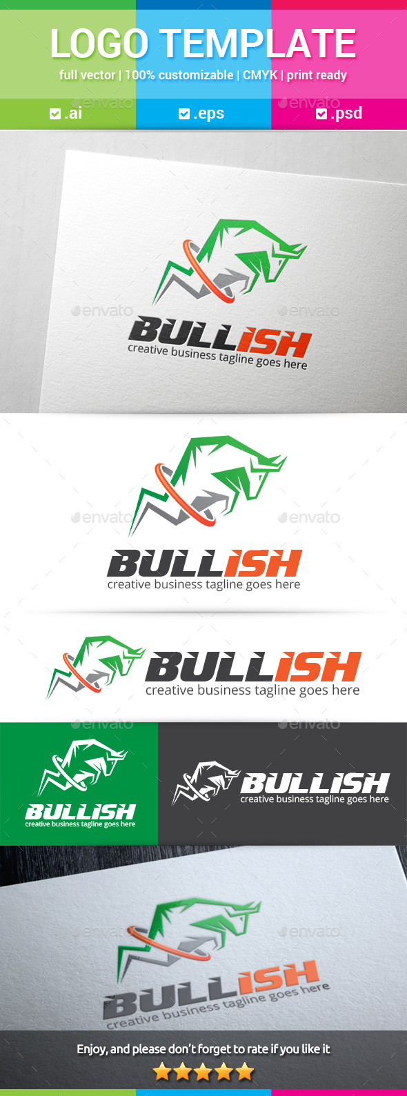 Bullish Logo - Animals Logo Templates
