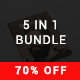 5 in 1 Magazine Bundle - 2nd Edition - GraphicRiver Item for Sale