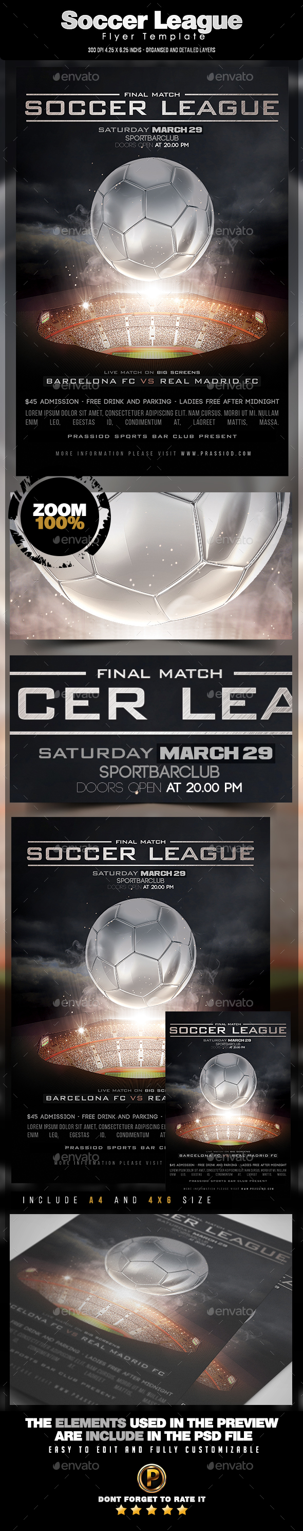 Soccer League Flyer Template - Sports Events