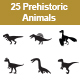 Prehistoric Animals vector icons - GraphicRiver Item for Sale