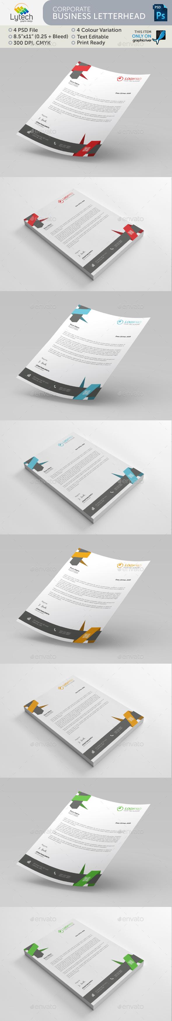 Carporate Business Letterhead - Stationery Print Templates