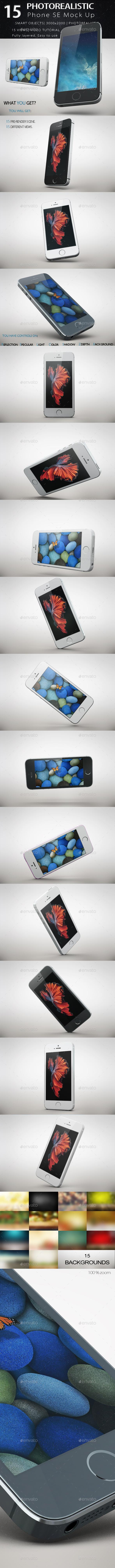 Phone SE Mock Up  - Mobile Displays