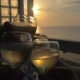 People Clanging Glasses In Outdoor Terrace At Sunset - VideoHive Item for Sale