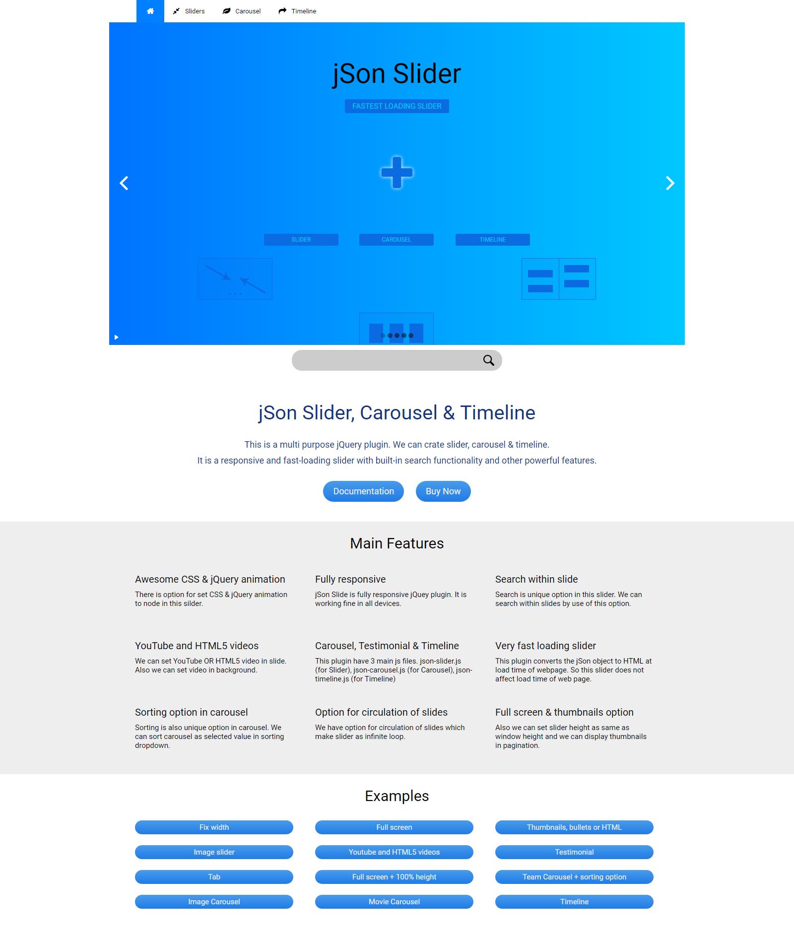 JSON Slider, Carousel & Timeline - Responsive jQuery Plugin