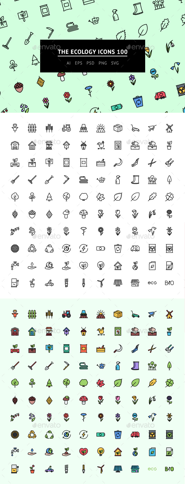The Ecology Icons 100 - Web Icons