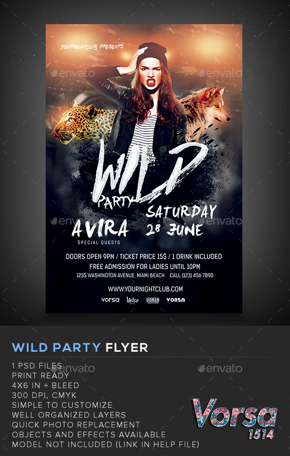 Wild Party Flyer - Clubs & Parties Events